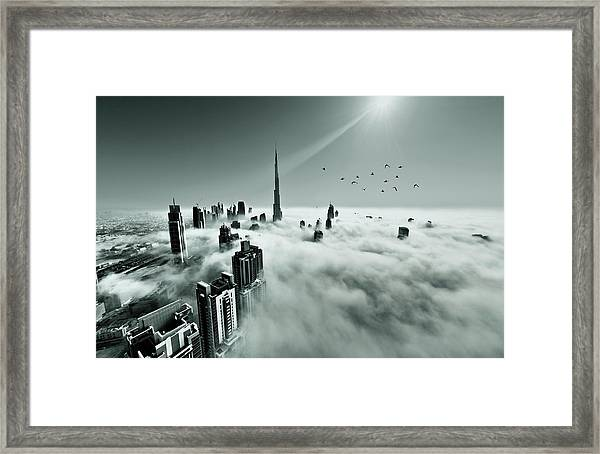 Up Up And Above Framed Print