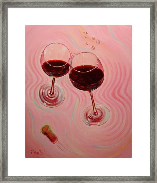 Framed Print featuring the painting Uplifting Spirits II by Sandi Whetzel