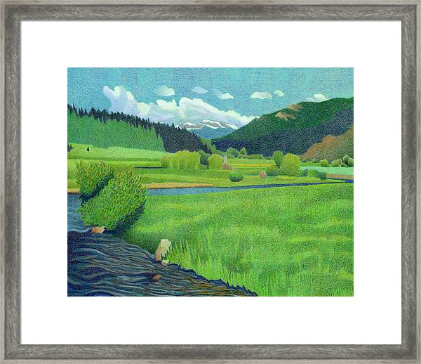 Upper Bear Creek Colorado Framed Print