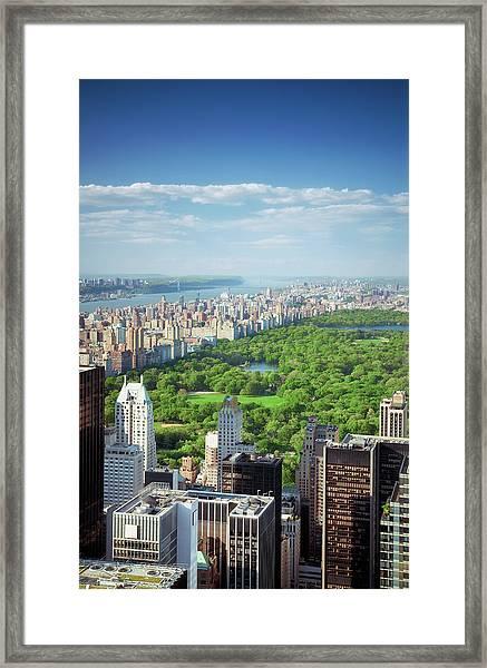 Upper Manhattan Framed Print