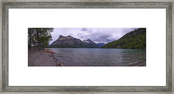 Upper Waterton Lake Framed Print
