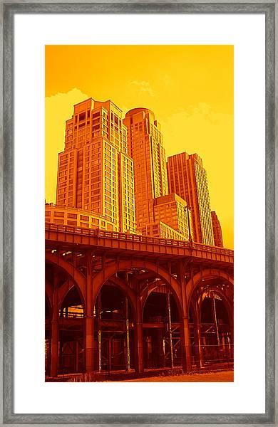 Upper West Side And Hudson River Manhattan Framed Print