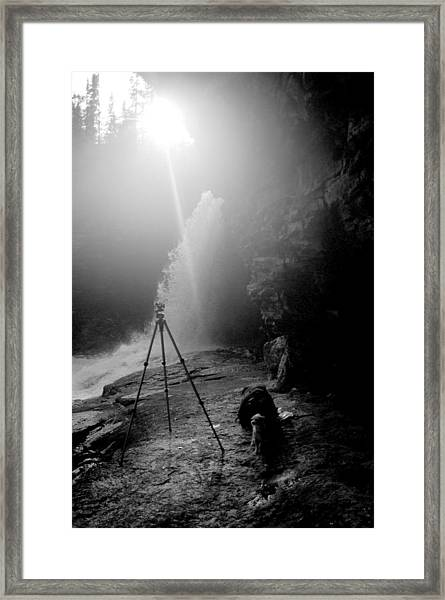 Upper Wolf River Falls Framed Print