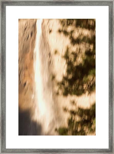 Upper Yosemite Fall In Yosemite Valley Framed Print