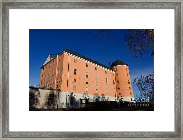 Uppsala Castle - Sweden - With Deep Blue Sky Framed Print
