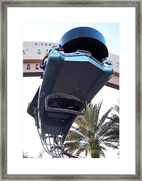Upside Down Car Framed Print
