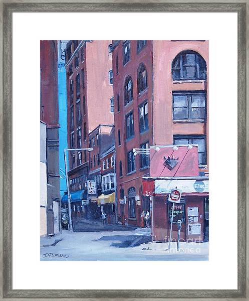 Urban Canyon Chinatown Framed Print