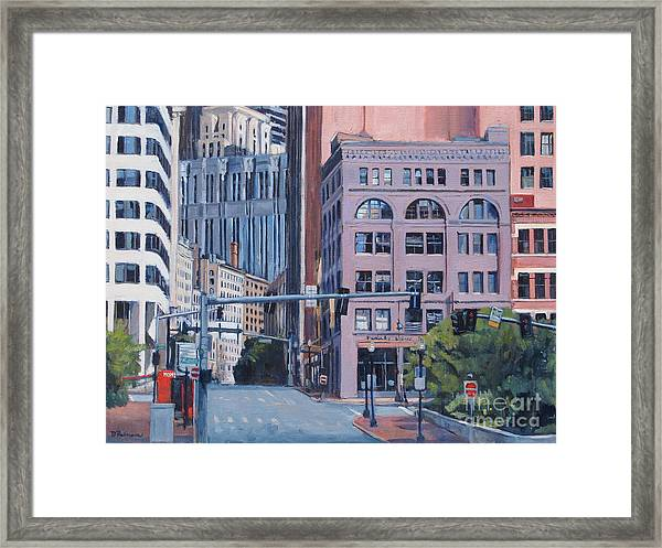 Urban Canyon Congress Street Framed Print