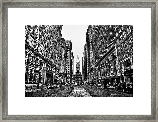 Urban Canyon - Philadelphia City Hall Framed Print