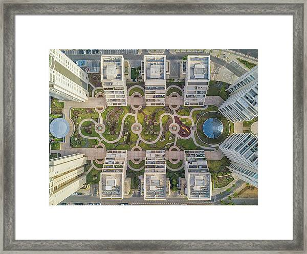 Urban Curves Framed Print