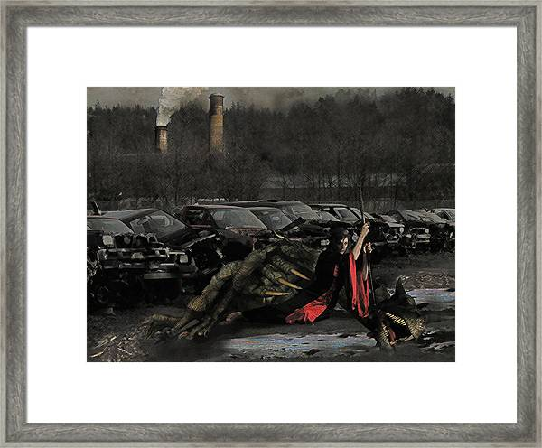 Urban Dragon Slayer Framed Print