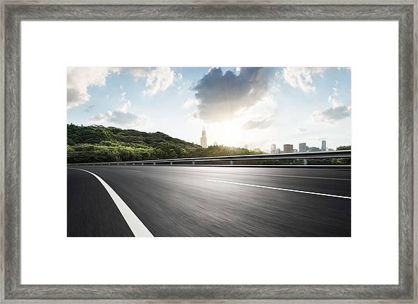 Urban Road,usa Framed Print by Yubo