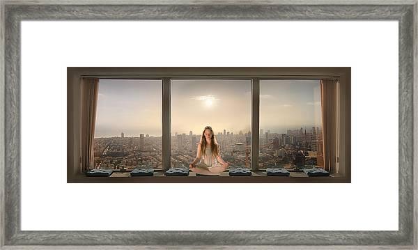 Urban Serenity Framed Print