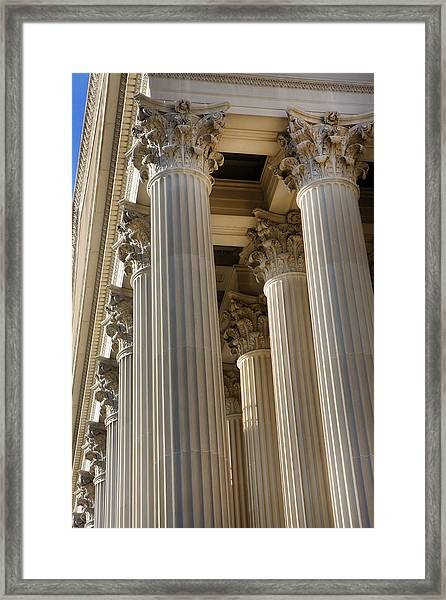 Us Archive Columns Framed Print