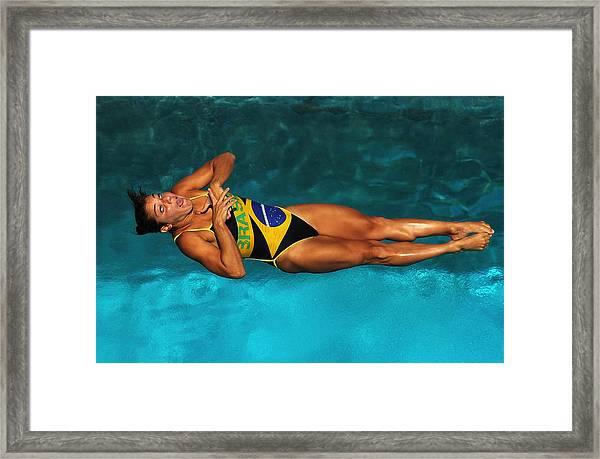 Us Diving Grand Prix Day 4 Framed Print by Al Bello