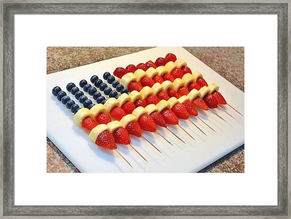 American Flag Fruit Kabobs Framed Print