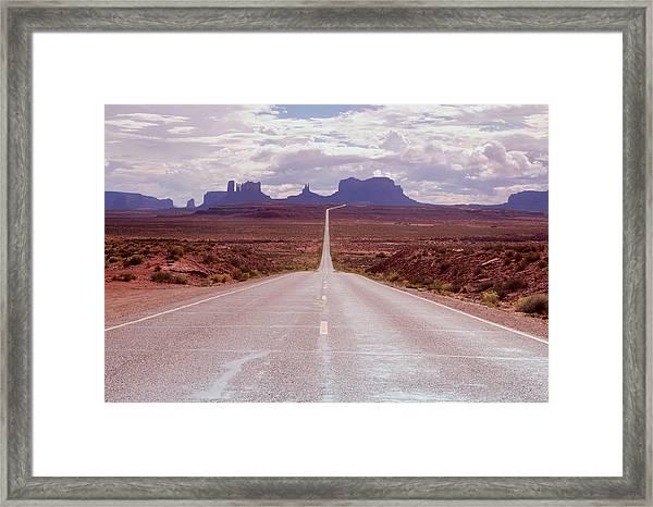 Us Highway 163 Framed Print