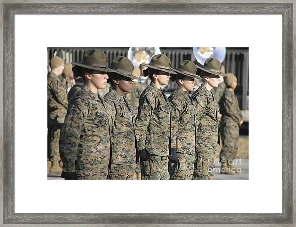 U.s. Marine Corps Female Drill Framed Print