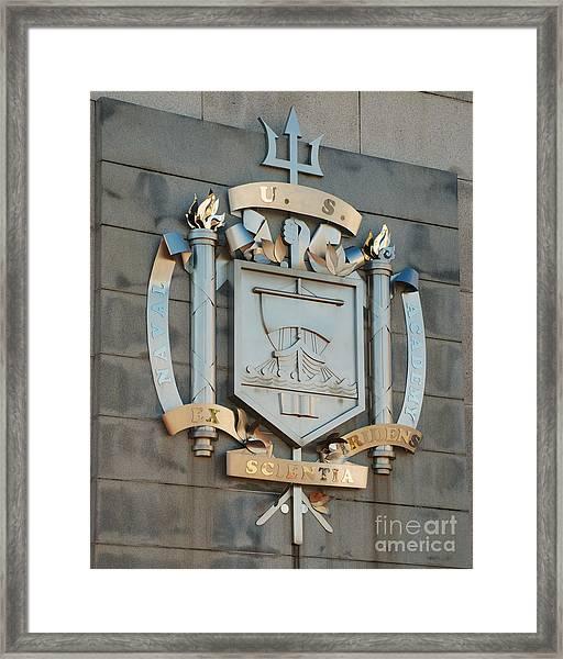 Us Naval Academy Insignia Framed Print