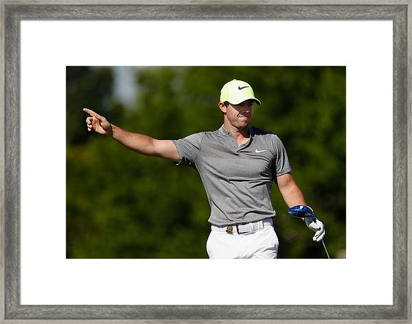 U.s. Open - Round Two Framed Print by Christian Petersen
