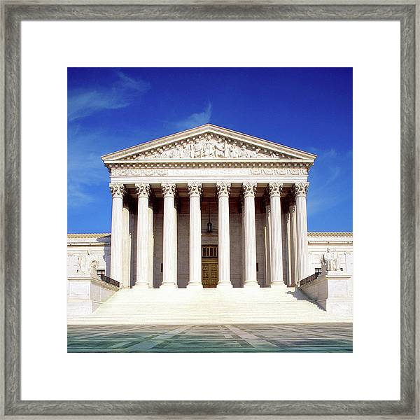 Us Supreme Court Building, Washington Framed Print