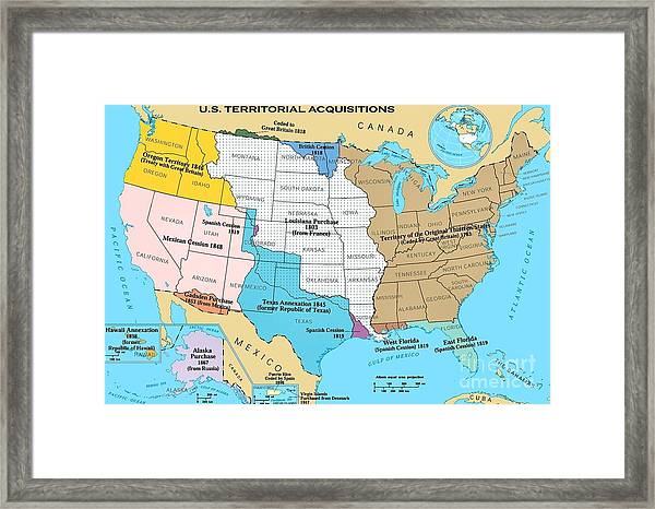 U.s. Territorial Acquisitions Drawing by Pg Reproductions