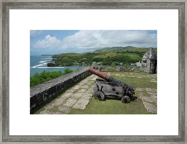 Us Territory Of Guam, Umatac Framed Print