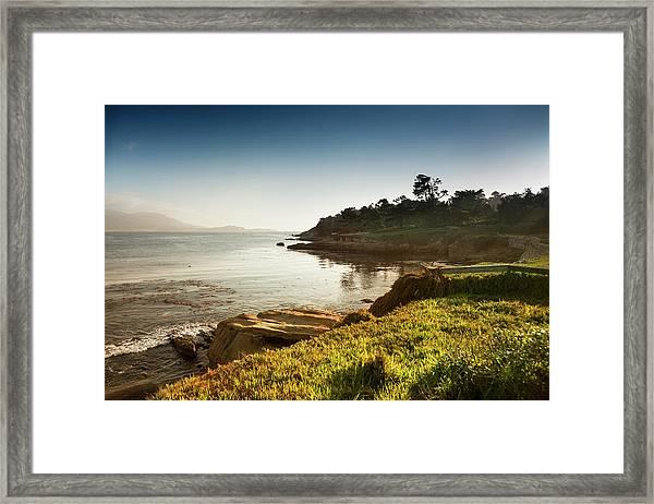 Usa, California, Big Sur, Coastline And Framed Print