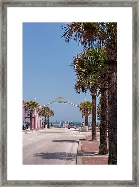 Usa, Florida, New Smyrna Beach, Flagler Framed Print