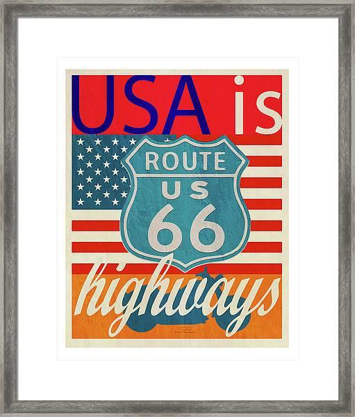 Usa Is Highways Framed Print