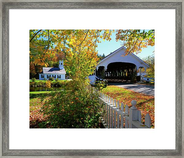 Usa, New Hampshire, Stark Framed Print