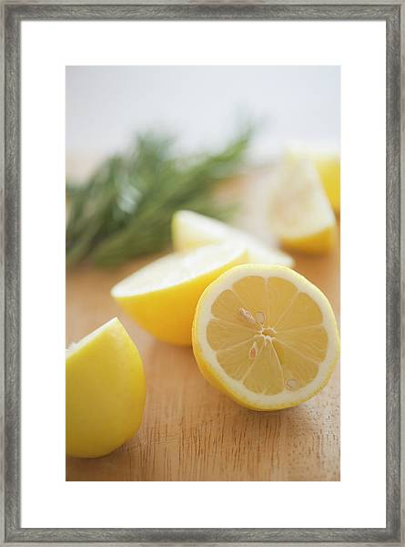 Usa, New Jersey, Jersey City, Lemon On Framed Print