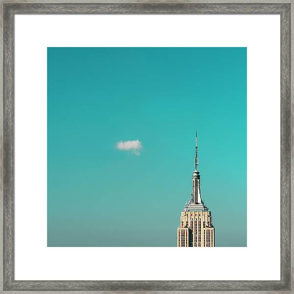 Usa, New York City, Empire State Framed Print