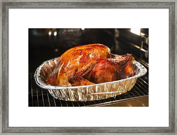 Usa, New York State, Roast Turkey Framed Print by Tetra Images