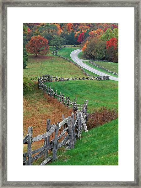 Usa, North Carolina, Blue Ridge Framed Print