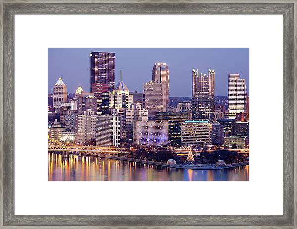 Usa, Pennsylvania, Pittsburgh, Cityscape Framed Print