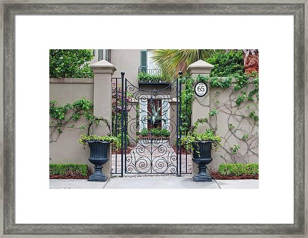 Usa, Sc, Charleston, Historic District Framed Print by Rob Tilley