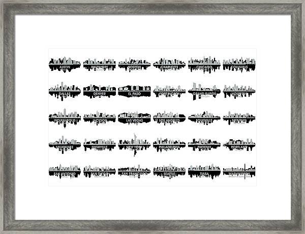 Usa Skylines 4 Framed Print