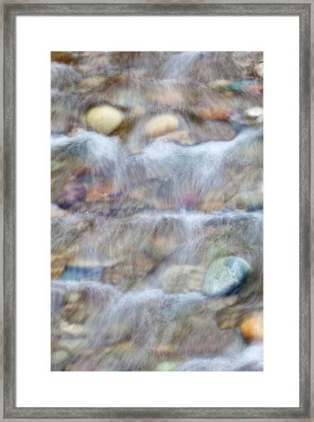 Usa, Washington Small Rocky Stream Framed Print