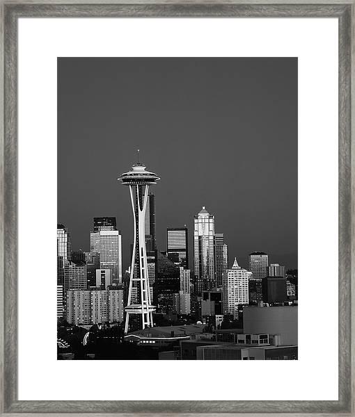 Usa, Washington State, Seattle, Space Framed Print by Adam Jones