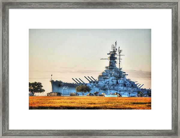 Uss Alabama Framed Print
