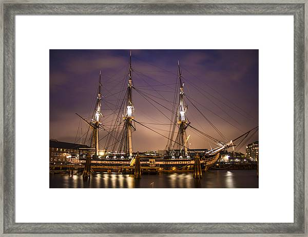 Uss Constitution Boston   Framed Print