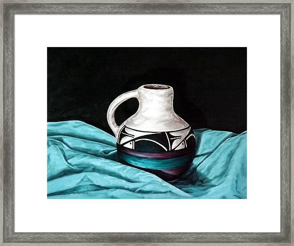 Ute Mnt Pottery Framed Print