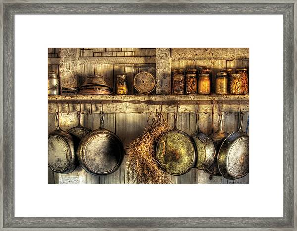 Utensils - Old Country Kitchen Framed Print