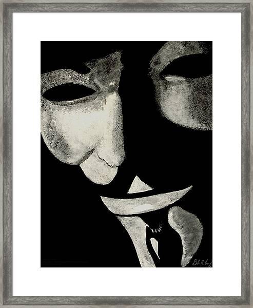 V Framed Print