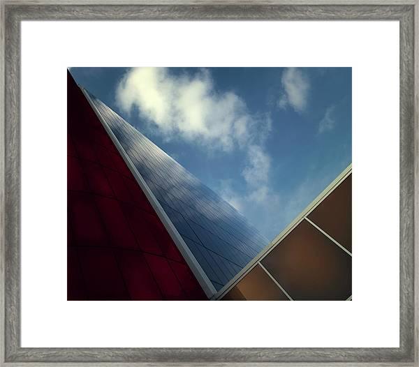 V-view. Framed Print