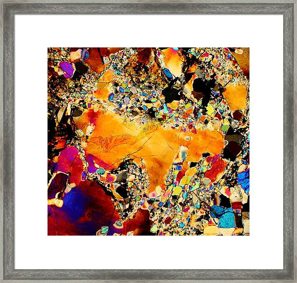 Goldon Nuggets From Space Framed Print