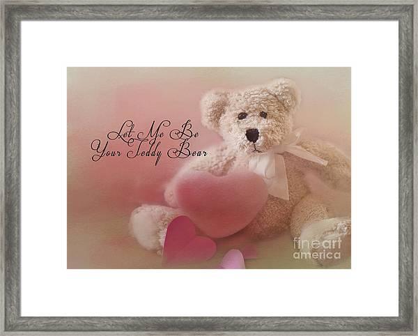 Valentine Bear 2 Framed Print