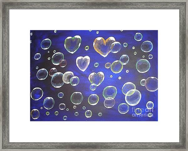 Valentine Bubbles Framed Print