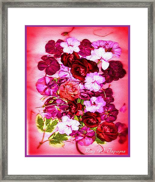 Valentine Flowers For You Framed Print by Ray Tapajna